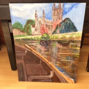 Water crossing to Worcester Cathedral by Michael Spencer