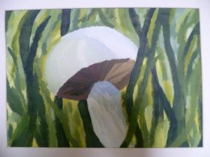 Mushroom by Landscape