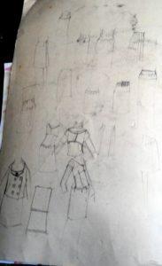 1960s fashion sketches by blodwyn jones