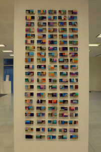 My Life in 100 Matchboxes – Installation at Shape Arts 40 Gracecurch Street. by Ivan Riches