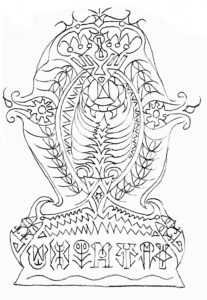 The New Runic Drawings: mandala 54 by Neal Pearce