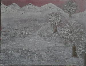 Metallic winter landscape by Miro Tomarkin