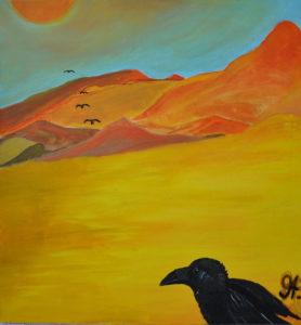 Raven in the Desert by Miro Tomarkin