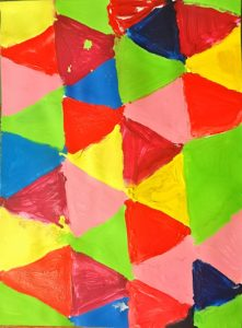 Triangles by Colour by Mel Coull