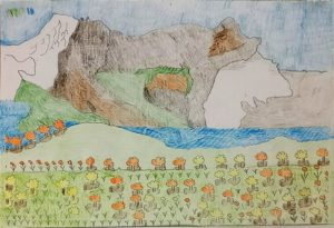 Flowers and Water and Rocky Mountain. by Philip