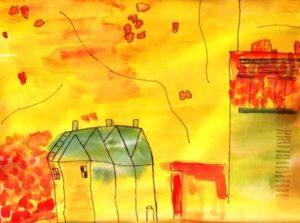 Interpretation Of Yellow Urban Cityscape. by SeaSideSean