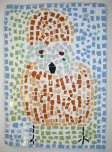 Orange Owl by Shirley Hart