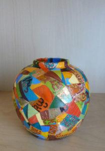 Orange Pot by Pauline Alexander