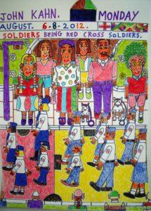 Red Cross Soldiers by John Kahn