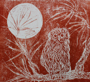 Owl and Moon by Dianne Stephens