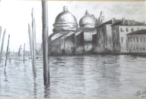 Venice across the water by John Prince