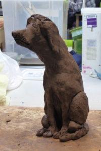 Ceramic dog by William Phillips