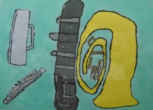 French horn by Stacey Fish