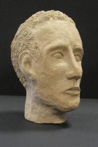 Ceramic head by William Phillips