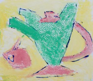 Green teapot by Arty