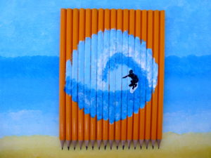 Surf on Pencils by Isabelle McGowan