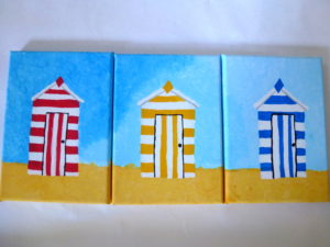 Beach huts by Isabelle McGowan