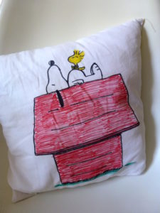 Snoopy Cushion by Isabelle McGowan