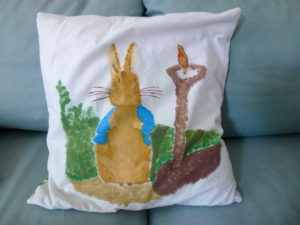 Peter Rabbit Cushion by Isabelle McGowan