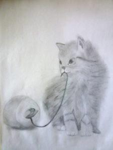 Playful Kitten by Isabelle McGowan