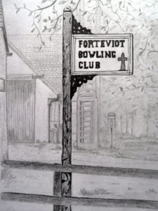 Bowling Club Sign (Forteviot) by Derek Thomason