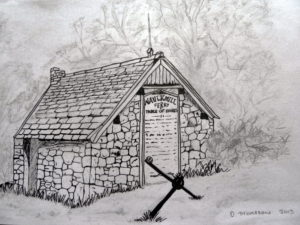 The Ferryman Bothy (Waulkmill) by Derek Thomason