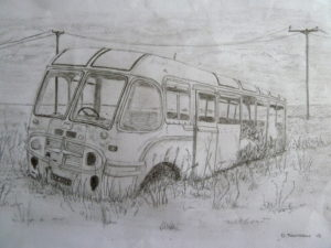 The Hoy Bus (Orkney) by Derek Thomason