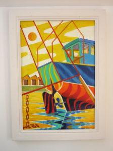 Boat yard by Bob Weller