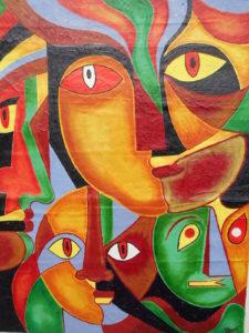 Colour rhythm in mind by creative visual artist