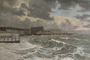 High Tide at Old Bandstand by AVERIL CLIFFORD REES
