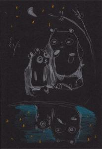 Pandas at night by Ramas Rupsys