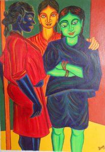 three friend by creative visual artist