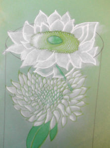 Pastel Sunflower by Nadean Stewart