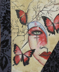 Butterflies and face by paul malone
