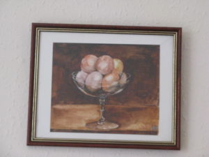 Peaches on Glass by Michael Spencer