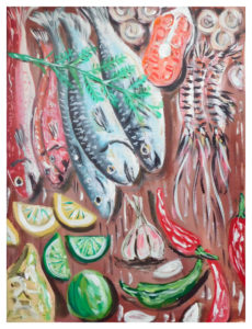 Pesche con Aglio e Peperoncino by John Pipere