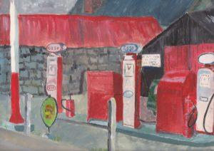 Petrol station by blodwyn jones
