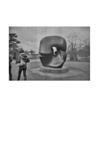 Henry Moore at Kew Gardens. by Paul Gillmore