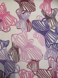 graphic design corset by Elizabeth Wingate