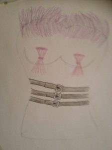 corset with stright jacket by Elizabeth Wingate