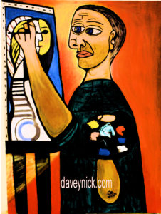 Picasso Painting his wife by Daveynick
