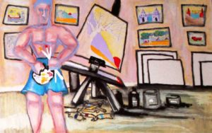 Picasso at work by Dawn Clarke