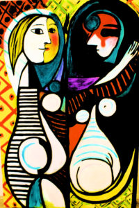 Picasso portrait of his pregnant Wife by Daveynick