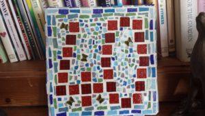 mosaic door number by VJ Francis