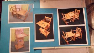 high chair renovation by VJ Francis