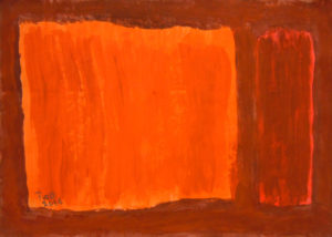 Orange and red rectangles by Pierre van den Bergh