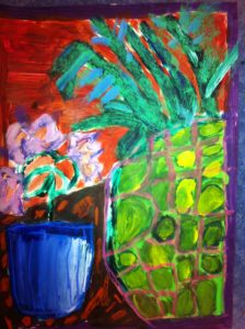 Pineapple and Flowers by Bobbie Robertson
