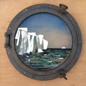 Porthole Antartica window by Lois Parker