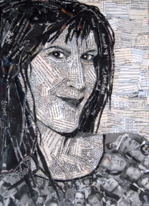 Portrait in Newspaper by Sally Case