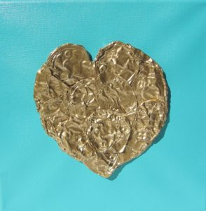 PRECIOUS HEART SERIES-GOLD HEART by LANDSCAPE OF GRIEF